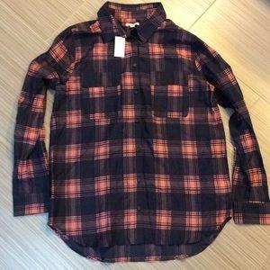 Gap Silky Plaid Shirt, NWT